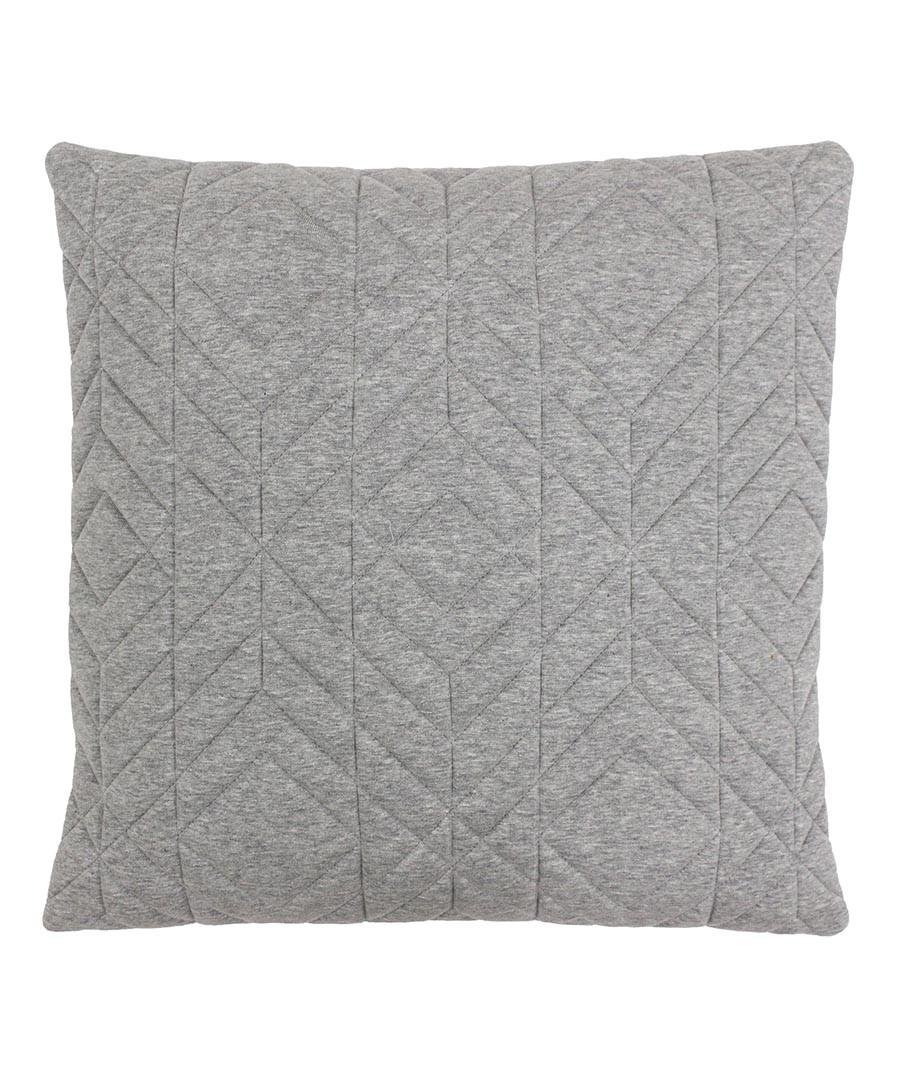 Conran grey quilted cotton cushion 45cm Sale - riva paoletti