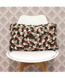 Petals multi wool-blend cushion 50cm