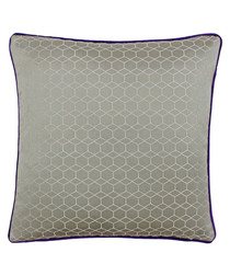 Balham grey linen-blend cushion 45x45cm