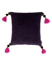 Poonam damson tassel cushion 45cm