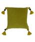 Poonam olive tassel cushion 45cm Sale - riva paoletti Sale