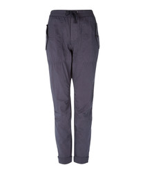 Storm cotton & silk trousers