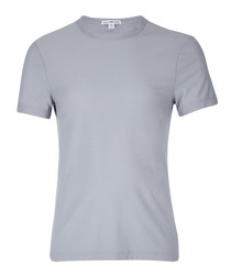 Grey sky pure cotton T-shirt