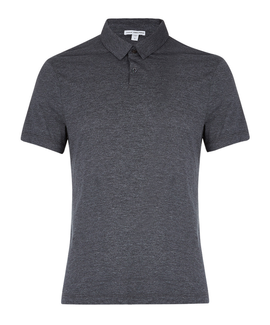 Anthracite cotton blend polo shirt Sale - James Perse