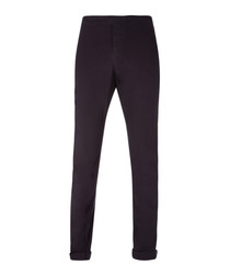 Squid black cotton trousers