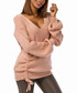 Pale pink wool blend ruched knit jumper Sale - Zibi London YOYO collection Sale