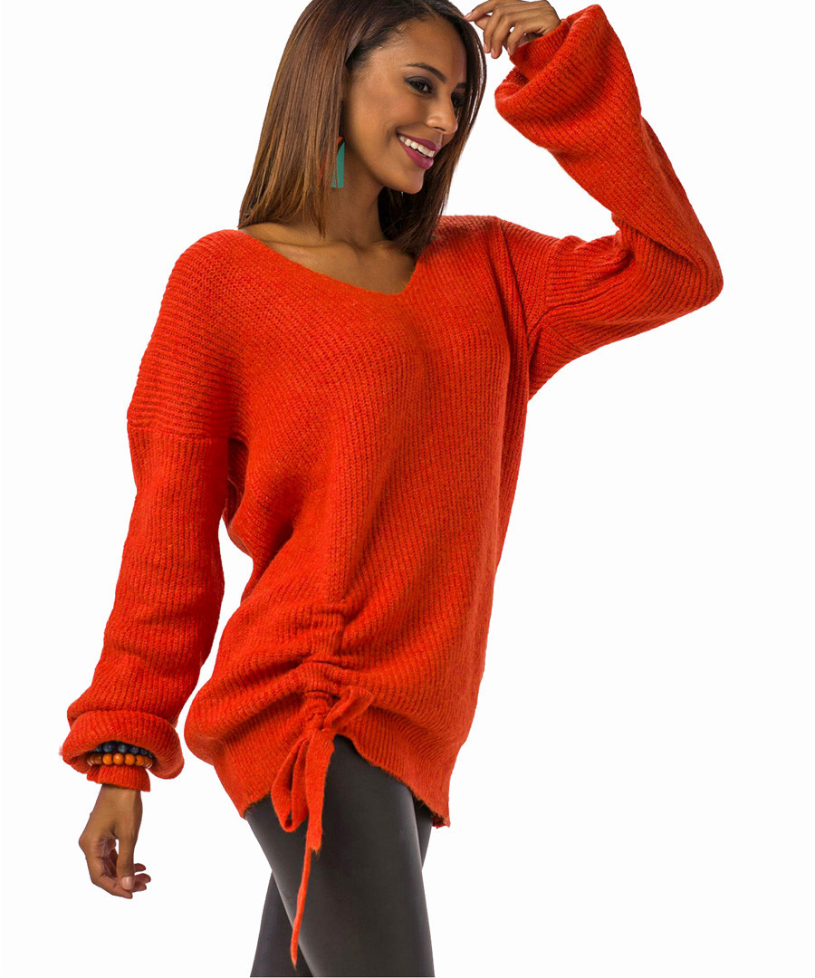 Tile wool blend ruched knit jumper Sale - Zibi London YOYO collection