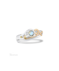 Moonstone & 14k gold wire ring