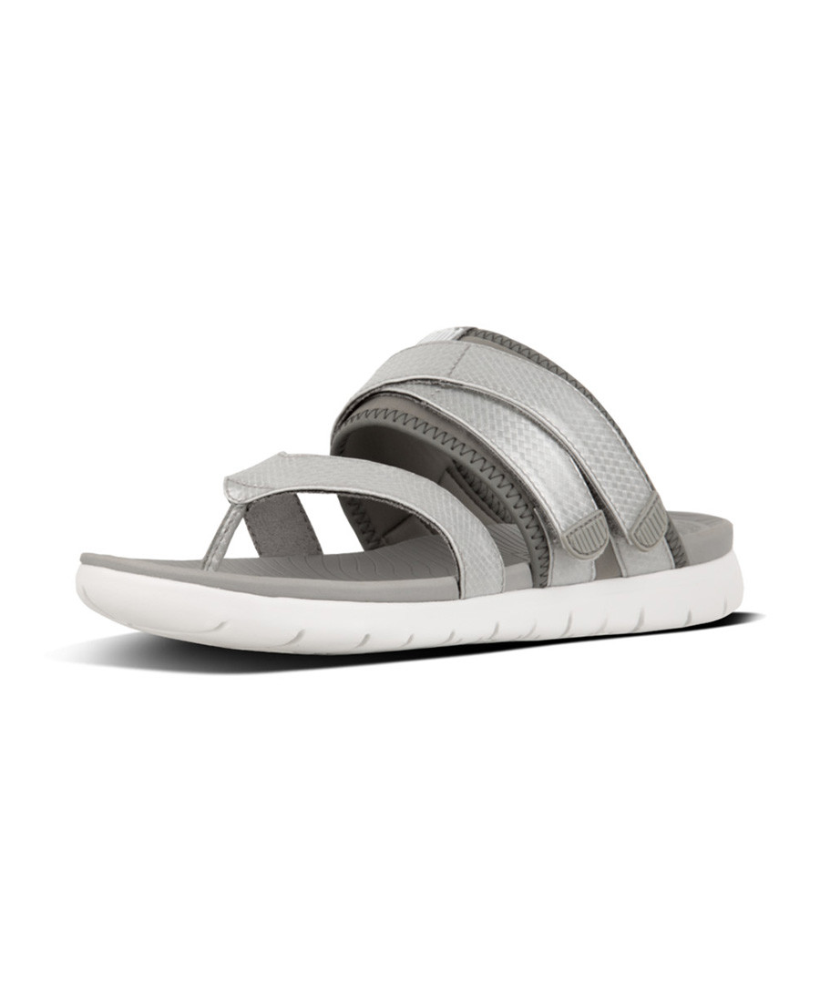 Neoflex grey silver sandals Sale - fitflop