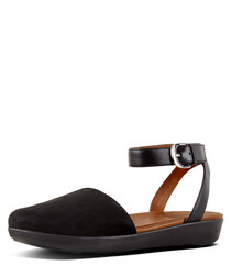 Cova black suede closed-toe sandals