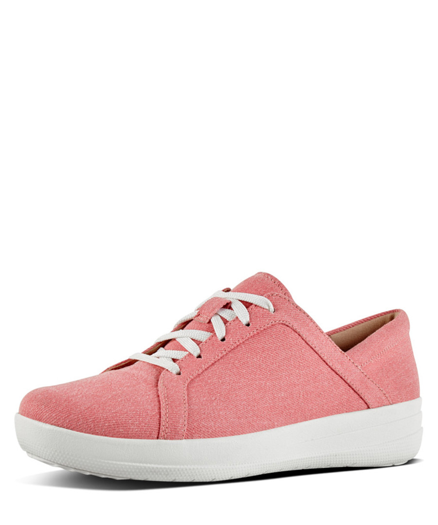 F-sporty II pink cotton lace-up sneakers Sale - fitflop
