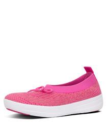 Uberknit Ballerina pink slip-ons