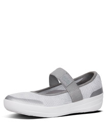 Mary Janes metallic & white sandals