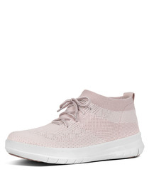 Uberknit pink slip-on high top sneakers