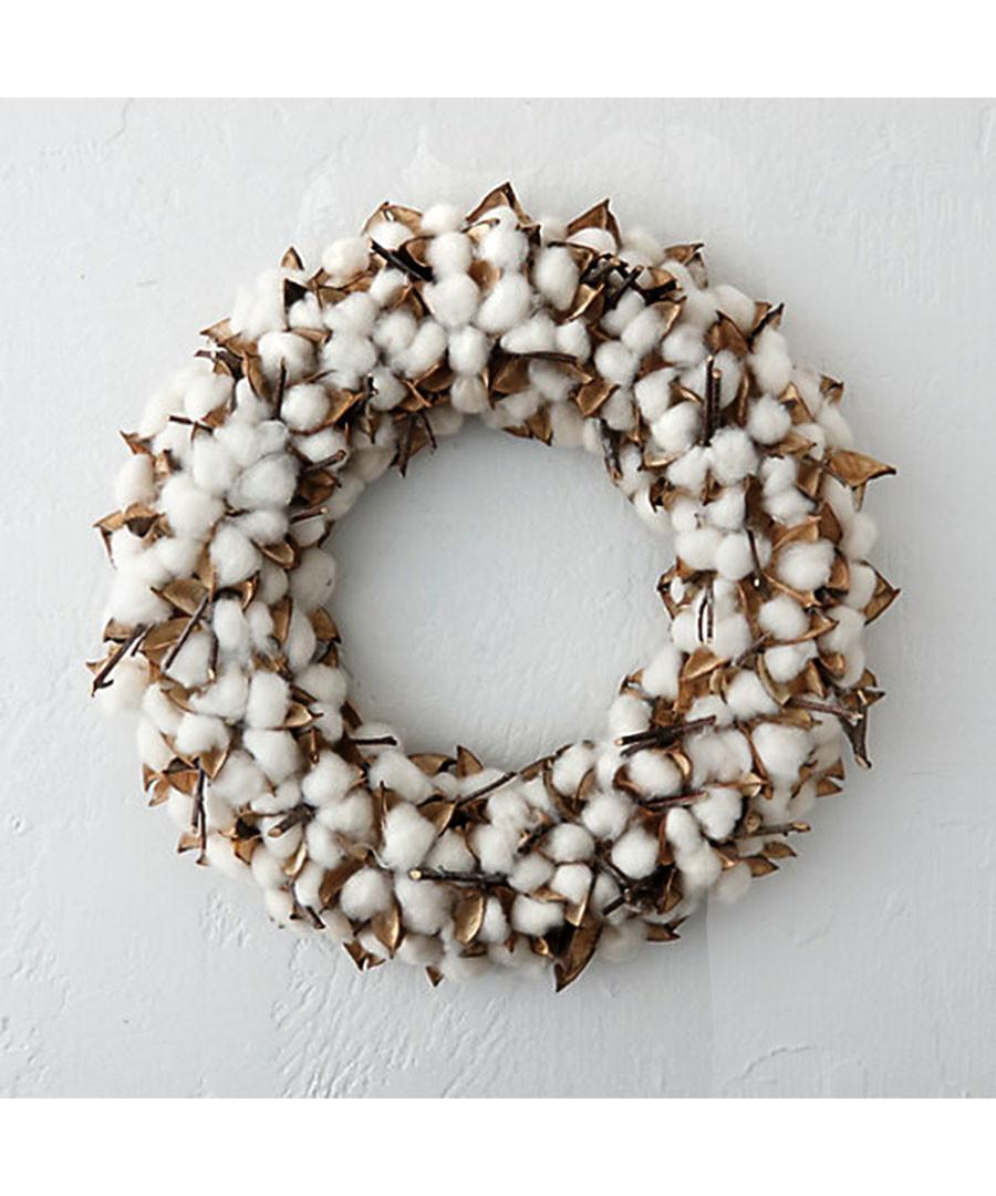 30cm cotton wreath Sale - Festive