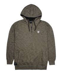 Stockwell khaki zip hoodie