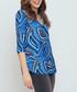 Mandarin blue print top  Sale - bo & nic Sale