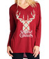 Checked Stag red long sleeve top Sale - Vera Dolini Sale