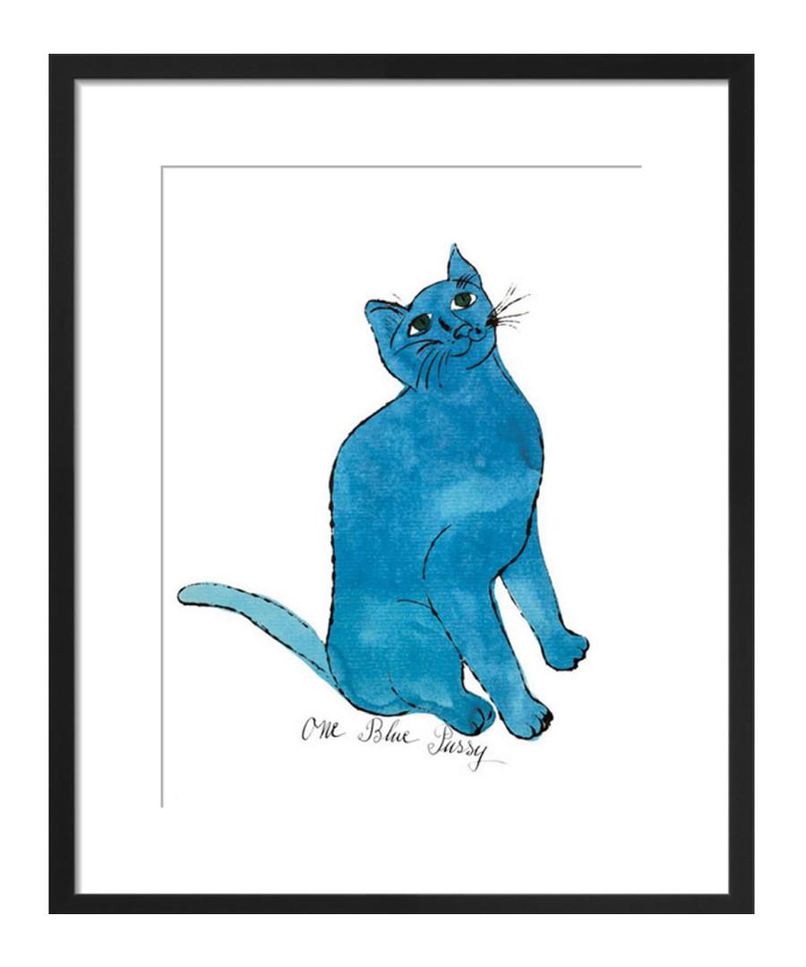 One Blue Pussy framed print 28 x 36cm Sale - Andy Warhol