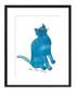 One Blue Pussy framed print 28 x 36cm Sale - Andy Warhol Sale