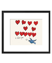 I Love You So framed print 28 x 36cm