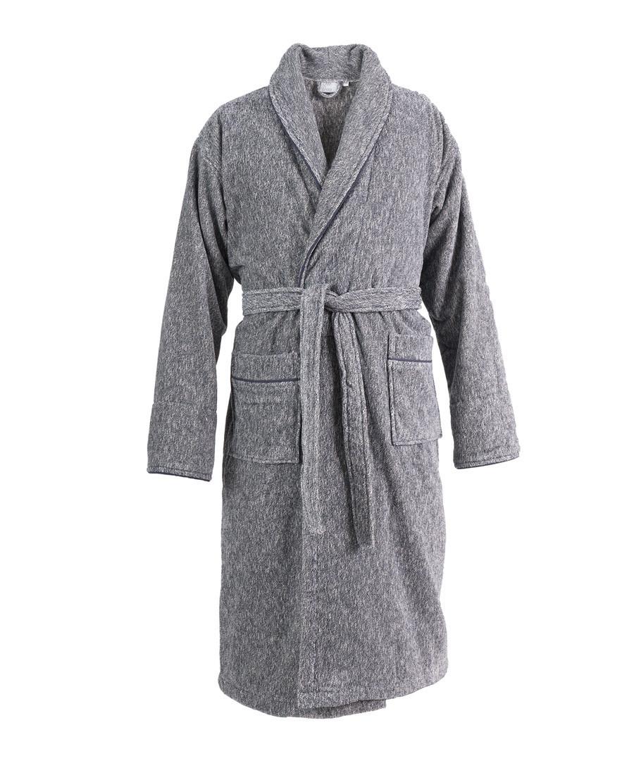 Discount Black Melange Pure Cotton Dressing Gown Secretsales