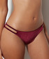 Wine velvet cut-out bikini briefs Sale - Boux Avenue Sale