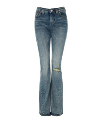 Joey mid-rise cotton blend flare jeans