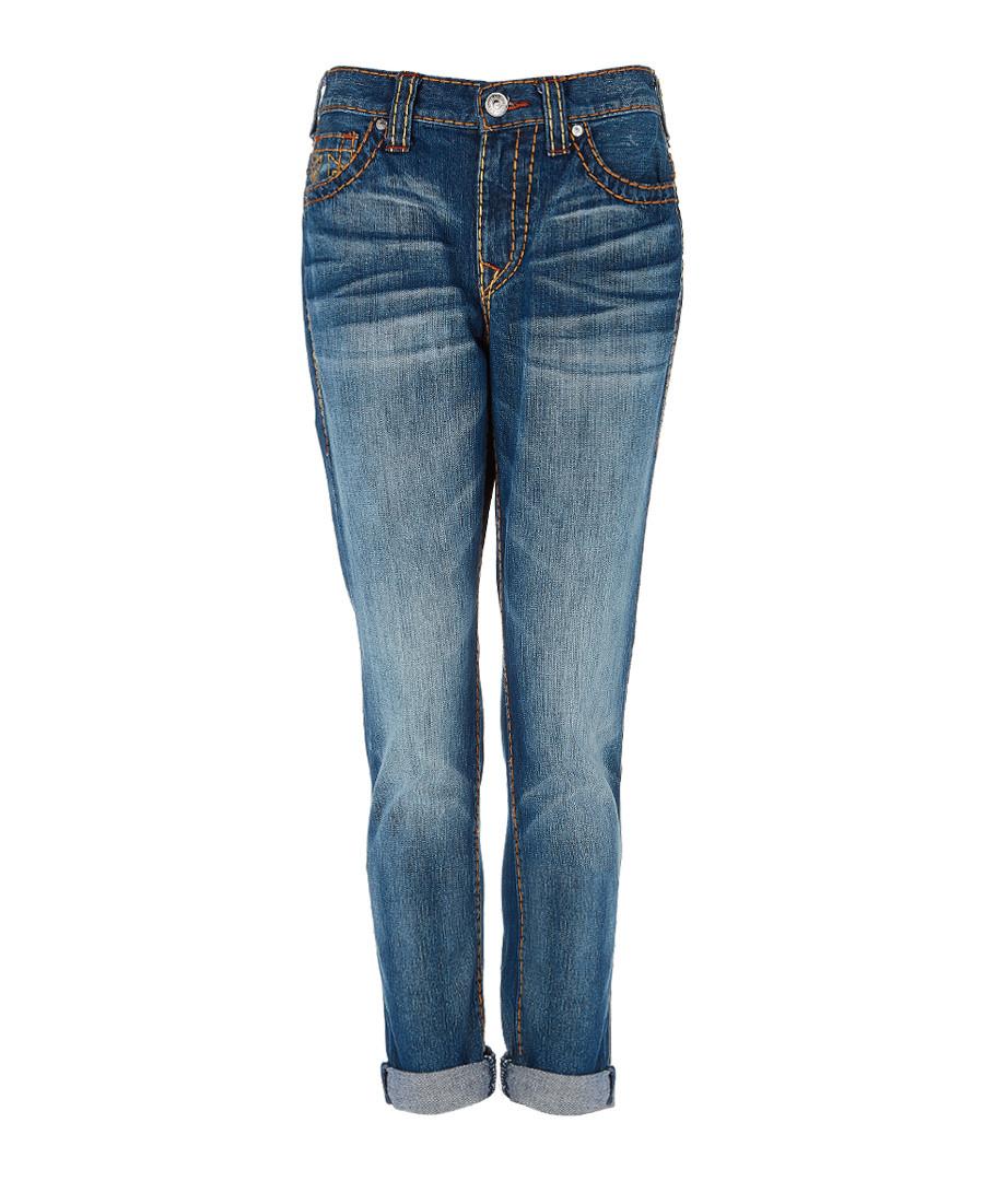 Audrey blue pure cotton boyfriend jeans Sale - true religion