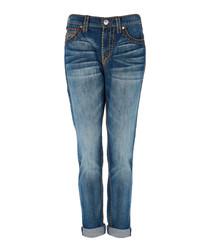 Audrey blue pure cotton boyfriend jeans