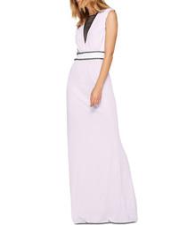 Daruma pink sleeveless maxi dress
