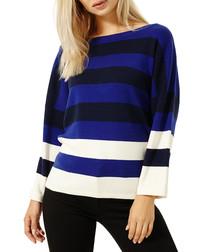 Triple-tone cashmere blend jumper