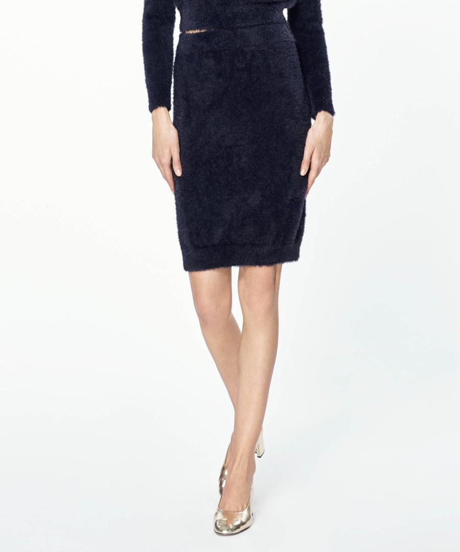 Black knit midi skirt Sale - paisie