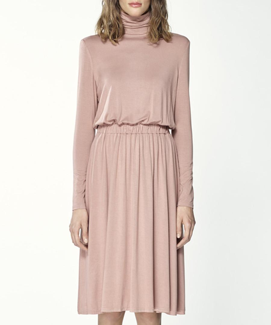 Blush pleated midi skirt Sale - paisie