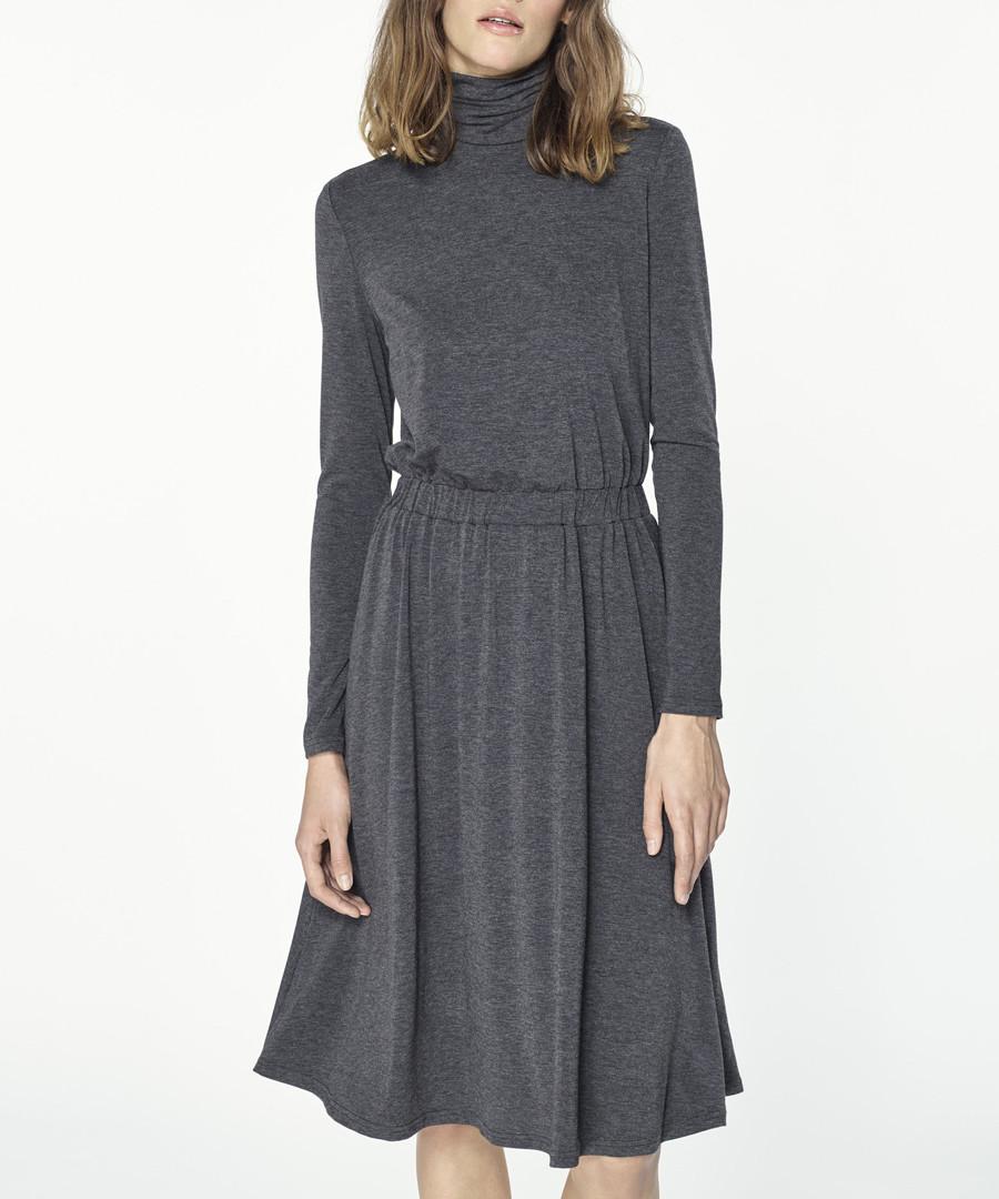 Grey pleated midi skirt Sale - paisie