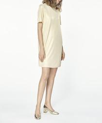Gold-tone mini dress