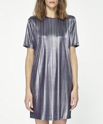 Silver-tone mini dress