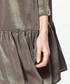 Khaki off-the-shoulder dress Sale - paisie Sale