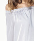 Silver off-the-shoulder dress Sale - paisie Sale