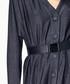 Black belted button-up dress Sale - paisie Sale