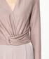 Taupe wrap front jumpsuit Sale - paisie Sale