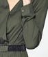 Green wrap front cropped jumpsuit Sale - paisie Sale