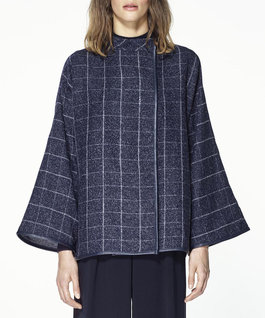 Multi checked kimono sleeve jacket Sale - paisie