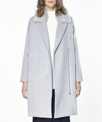 Light grey wool blend coat