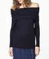 Black wool blend off-the-shoulder jumper Sale - paisie Sale