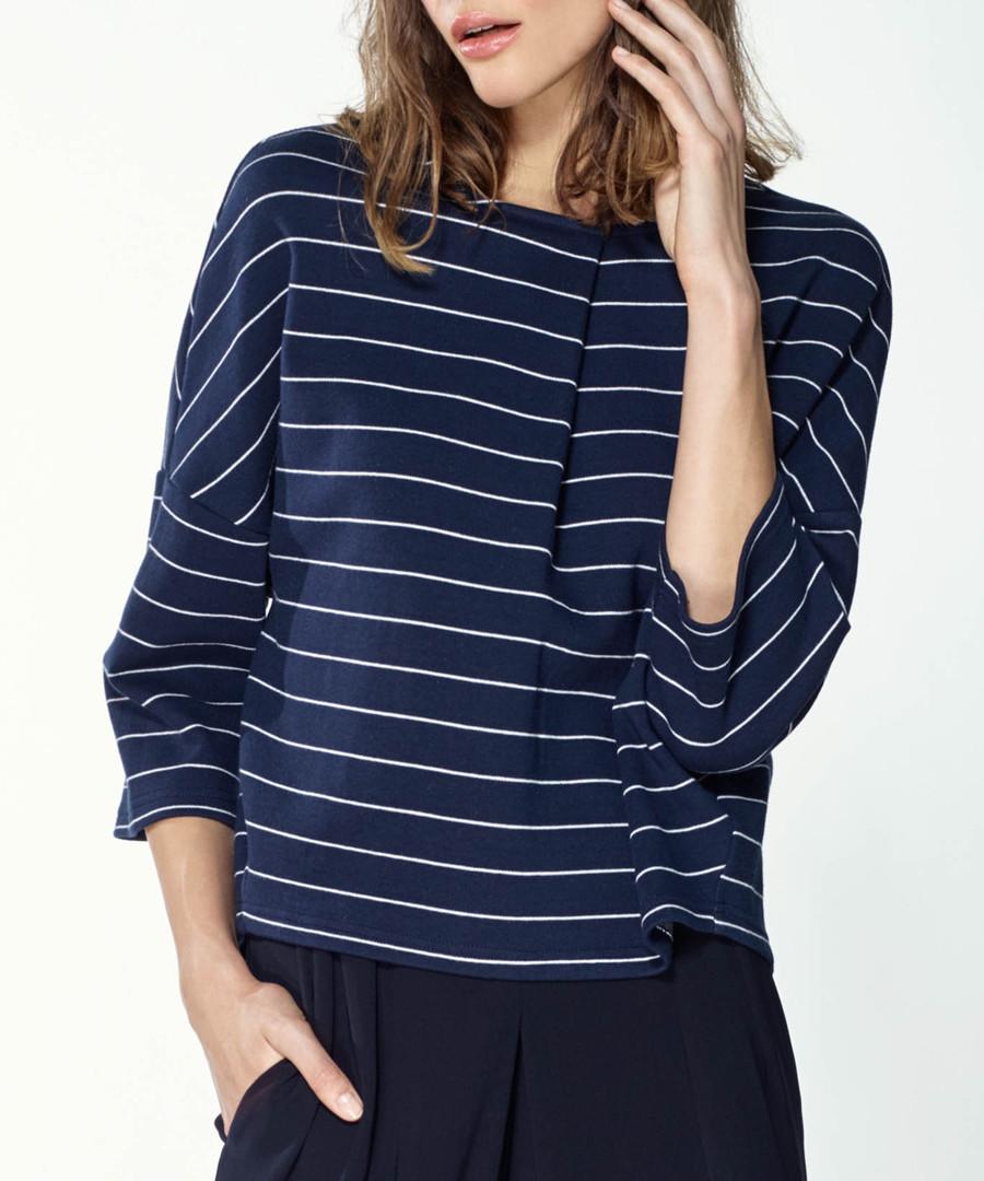 Navy stripe pure cotton top Sale - paisie