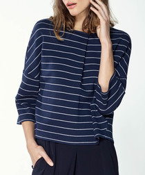 Navy stripe pure cotton top