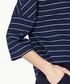 Navy stripe pure cotton top Sale - paisie Sale