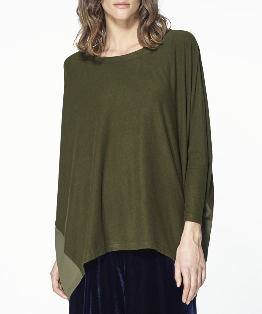 Deep green asymmetric top Sale - paisie