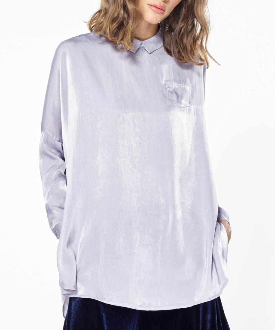Lilac button back cape shirt Sale - paisie